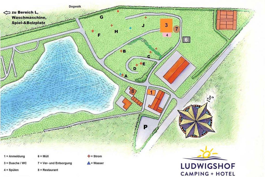 Camping Ludwigshof Augsburg - Lageplan