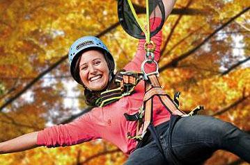 Klatterwald Scherneck - Freizeit für Kinder - Camping Ludwigshof am See